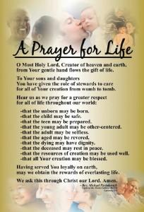 Respect Life Prayer